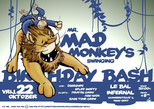 Mad Monkey Birthday Bash